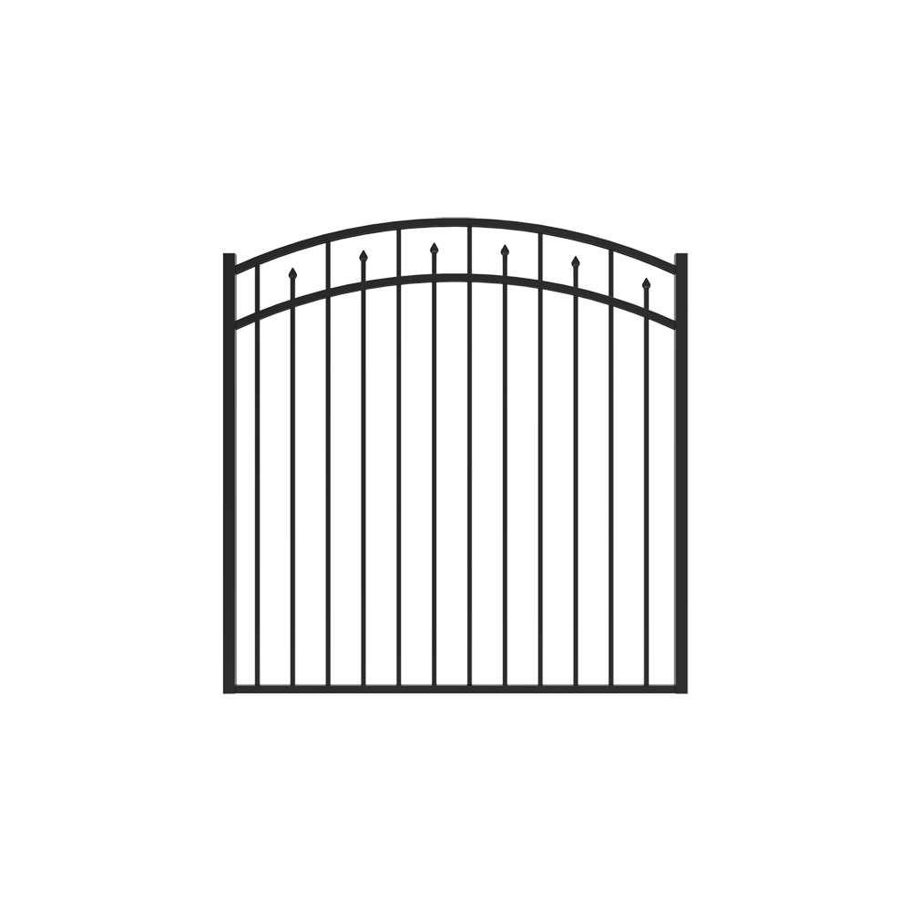 4 1/2' x 5' Amethyst Arched Gate