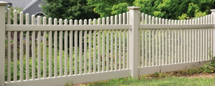 Chestnut Scallop Vinyl Fence