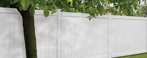 5Ft White Vinyl Fence