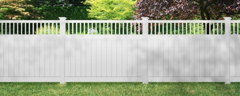 Brown Vinyl FenceBrown Vinyl Fence