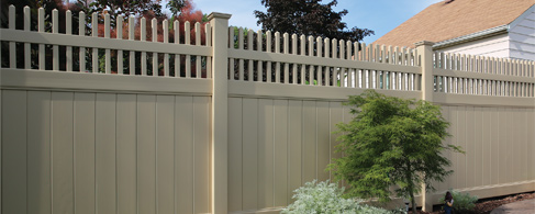 White Vinyl Decorative Fence