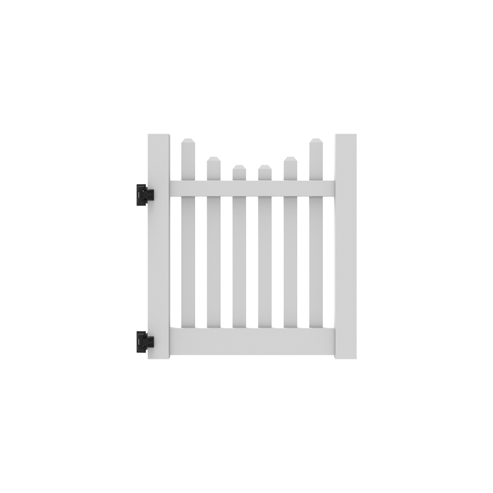 4' x 46'' Silverbell Scallop Walk Gate
